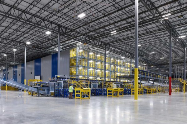Picture of a big empty warehouse facility