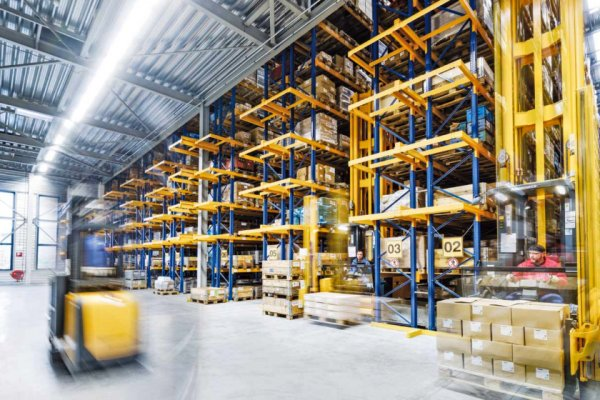 Warehouse facility full of inventories