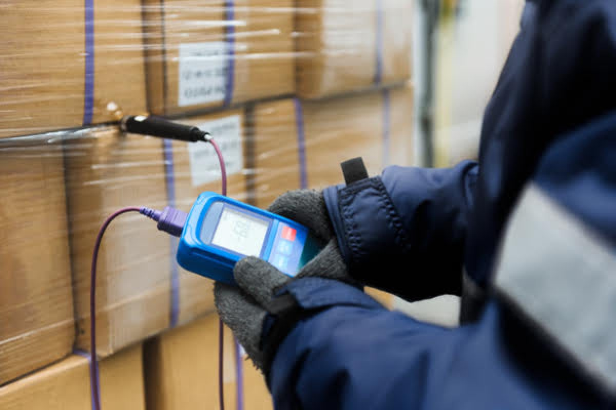 Person scanning inventory with scanner