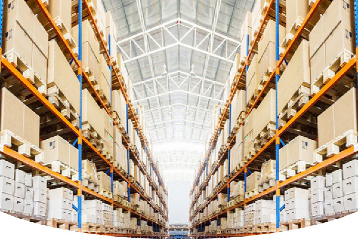 Big warehouse facility full of inventories